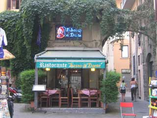 The famous Sasso di Dante Restaurant